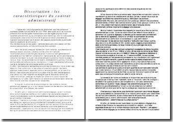 Les caractéristiques du contrat administratif