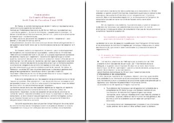 Arrêt Cour de Cassation 5 mai 1998: le comité d'entreprise