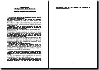 Commentaire CE 30 juin 1997, Melle Cornebois: décision administrative unilatérale