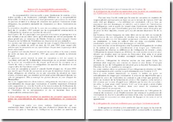 Commentaire d'arrêt, Civile, 1ère, 21 octobre 1997: la responsabilité contractuelle