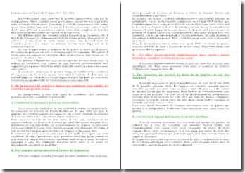 Commentaire de l'arrêt du 31 mars 2011, Civ. 1ère: l'enrichissement sans cause