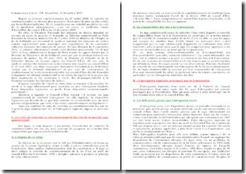Commentaire d'arrêt, conseil d'Etat , Assemblée, 16 décembre 2005