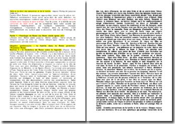 Histoire du droit des personnes et de la famille depuis l'Antiquité jusqu'au Code civil