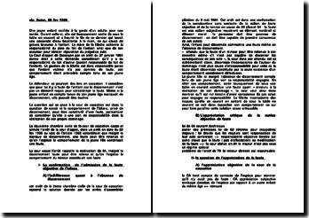 Fiche: Commentaire d'arrêt de la 2ème chambre civile, du 28 février 1996
