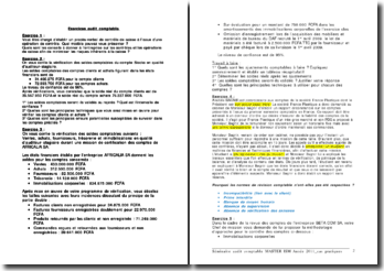Exercices d'audit comptable