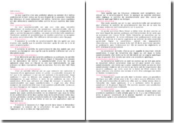 Définitions de différents termes utilisés en droit public constitutionnel