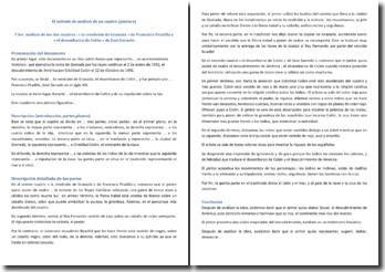 El método de análisis de un cuadro (pintura) y los análisis de los dos cuadros : « la rendición de Granada » de Francisco Pradilla y « el desembarco de Colón » de José Garnelo
