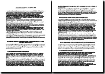 Commentaire comparé, Cass. Com, 9 février 2010: l'assignation en liquidation judiciaire