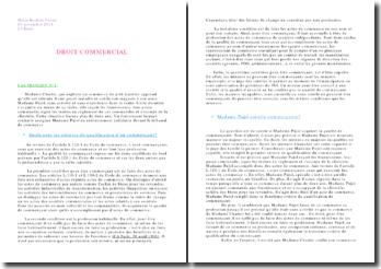 Droit commercial: redressement judiciaire devant le tribunal de commerce