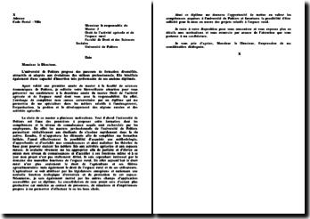 Lettre de motivation Master 2ème année, Droit de l'activité agricole et de l'espace rural