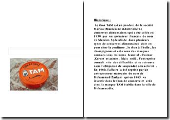 Rapport final du projet étude de marché : Thon Tam