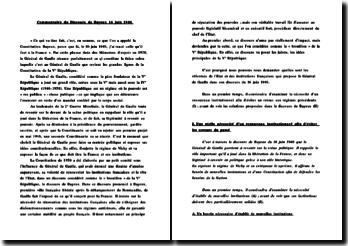 Commentaire du discours de Bayeux 16 juin 1946