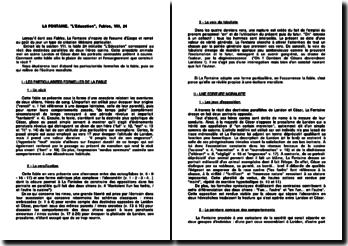 L'Education, Fables, VIII - La Fontaine