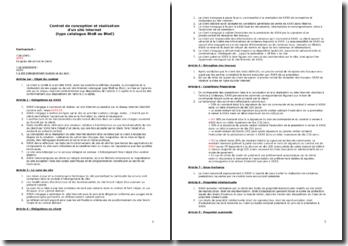 Contrat de conception et réalisation d'un site web