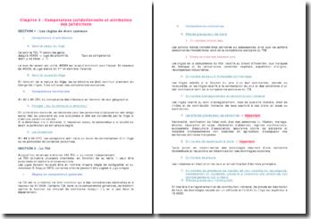 La compétence juridictionnelle et l'attribution des juridictions