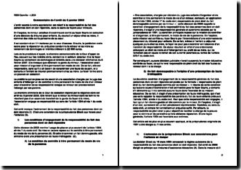 Commentaire de l'arrêt du 8 janvier 2008: responsabilité du fait des personnes dont on doit répondre, dans le cadre de foyers pour mineurs