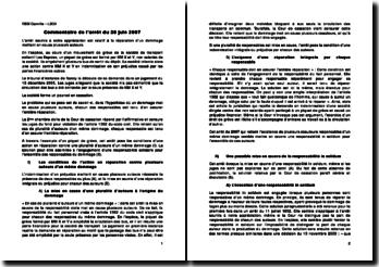 Commentaire de l'arrêt du 28 juin 2007: réparation d'un dommage mettant en cause plusieurs auteurs