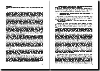 L'expert de l'article 1592 du Code civil et celui de l'article 1843-4 du Code civil