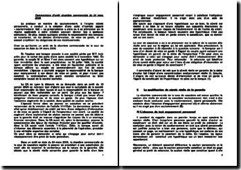 Cour de cassation, Chambre commerciale, 24 mars 2009: cautionnement réel