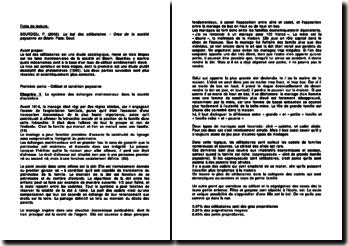 Le bal des célibataires, Crise de la société paysanne en Béarn - Bourdieu: Célibat et condition paysanne