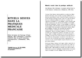 Rites initiatiques et pratique médicale dans la société française contemporaine - Anne Dutruge