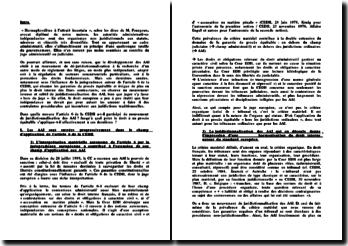 AAI et article 6 de la Cour europénne des droits de l'Homme (CEDH)