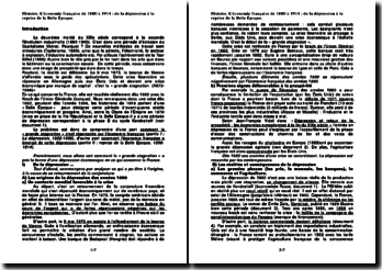 L'économie française de 1880 à 1914 : de la dépression à la reprise de la Belle Époque.