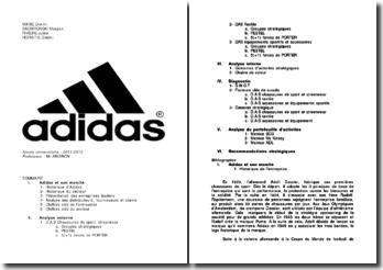 Analyse interne et externe d'Adidas