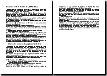 Commentaire d'arrêt, Tribunal des conflits, 17 octobre 2011, SCEA du Chéneau: la compétence du juge judiciaire en matière d'actes administratifs
