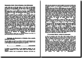 Cour de Cassation, Assemblée Plénière, 9 mai 1984, arrêt Lemaire: une nouvelle conception de la faute