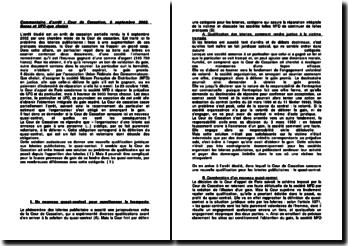 Cour de cassation, Chambre mixte, 6 septembre 2002, arrêt Bossa et UFC-que choisir: le quasi-contrat