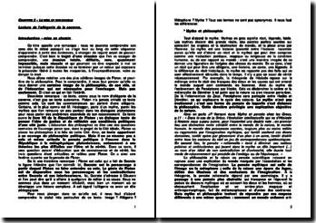 Livre VII de la République - Platon : l'allégorie de la caverne - le réel et son double