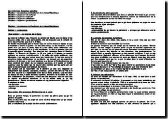 Les institutions françaises actuelles