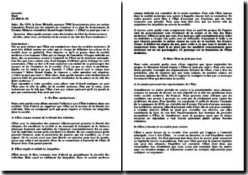 En 1999, la firme Michelin annonce 7500 licenciements dans ses usines françaises. Le Premier Ministre (socialiste) Lionel Jospin déclare : « L'État ne peut pas tout ». Dans quelle mesure cette déclaration du Chef du Gouvernement est-elle, selon v