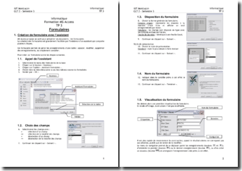 Formation MS Access: les formulaires