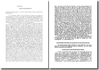 Commentaire des alinéas 1, 2 et 3 du nouvel article L.132-1 du Code de la consommation