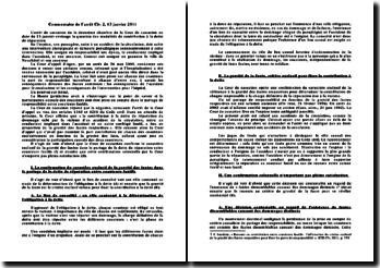 Commentaire de l'arrêt Civ. 2, 13 janvier 2011: modalités de contribution à la dette de réparation