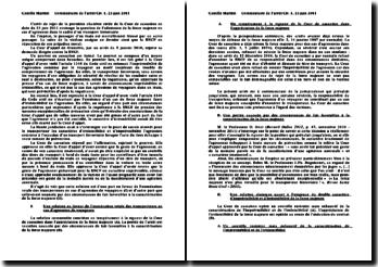L'arrêt de rejet, première chambre civile de la Cour de cassation, 23 juin 2011: admission de la force majeure en cas d'agression dans le cadre d'un transport ferroviaire