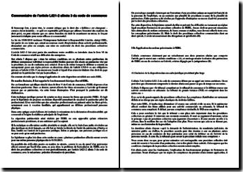 Commentaire de l'article L621-2 alinéa 3 du code de commerce: les difficultés des entreprises