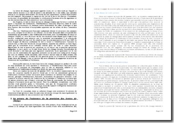 Chambre commerciale, 16 janvier 2001: la lettre de change