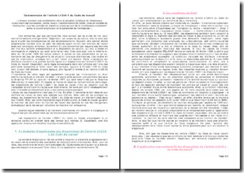 Commentaire de l'article L1224-1 du Code du travail: modification dans la situation juridique de l'employeur
