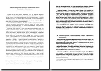 Approche comparée des législations européennes en matière d'euthanasie et d'aide à la mort