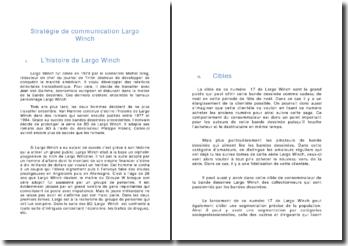 La stratégie de communication de Largo Winch