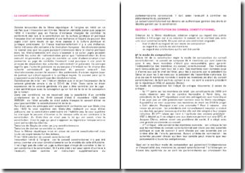 Le conseil constitutionnel: composition et rôle