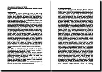 Discours du président de la République, Raymond Poincaré (1915)