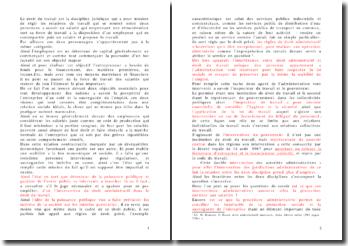 Les rapports entre droit du travail et droit administratif