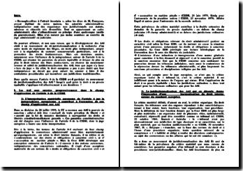 Autorités administratives indépendantes et CEDH
