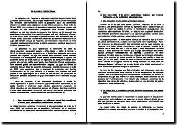 Droit administratif: le référé injonction