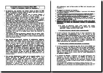 Rapport annuel du Conseil d'Etat: droit au logement, droit du logement