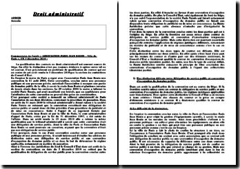 Commentaire de l'arrêt CE 3 décembre 2010 :Association Paris-Jean Bouin, Ville de Paris